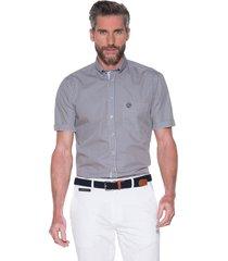 campbell casual shirt met korte mouwen beige