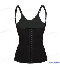 latex rubber underbust waist trainer cincher vest  chaleco body shaper corset