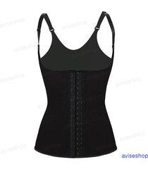 latex rubber underbust waist trainer cincher vest  chaleco body shaper corset