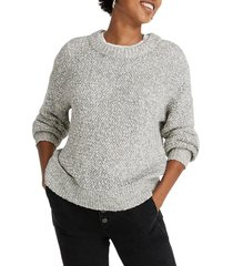 women's madewell baez pullover sweater, size medium - grey