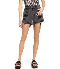 women's blanknyc the barrow high waist distressed denim shorts