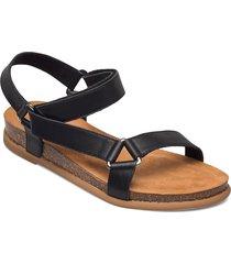 coliro_ran shoes summer shoes flat sandals svart unisa