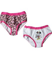 kit c/ 2 calcinhas infantil lupo minnie mouse
