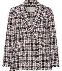 peyton checked jacket blazers bouclé blazers multi/mönstrad notes du nord