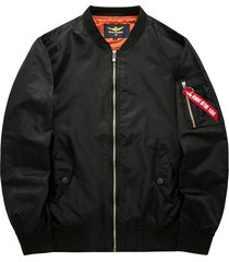 chaqueta hombre piloto militar aviador gruesa 8088 negro