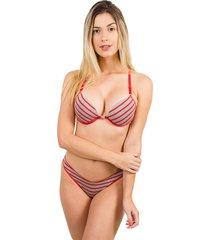 conjunto bella fiore modas sutiã nadador e tanga fio lívia vermelho