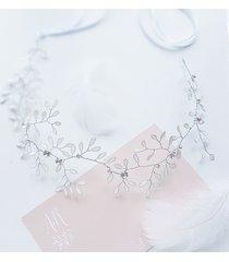 opaska ślubna w stylu boho - flora leaves