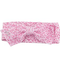 monnalisa animal-print bow detail headband - pink
