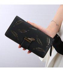 billetera mujeres- bolsos largos de la cartera de las-negro