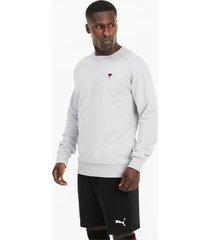 ac milan ftblfeat voetbalsweater voor heren, grijs, maat 3xl | puma