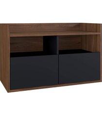 balcão p/ banheiro benício preto estilare móveis