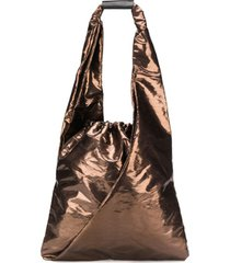 mm6 maison margiela japanese bucket bag - marrom