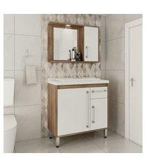 gabinete para banheiro 2 portas 1 gaveta lilies móveis