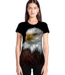 camiseta feminina ramavi águias manga curta