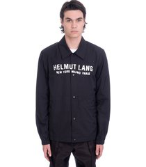 helmut lang casual jacket in black polyamide