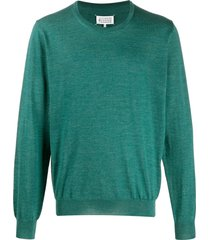 maison margiela relaxed-fit knitted sweater - green