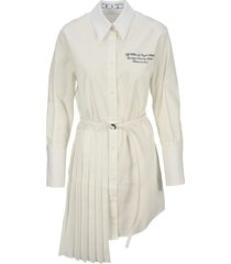 off-white off white popeline dress