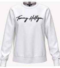tommy hilfiger women's essential logo sweatshirt bright white - m