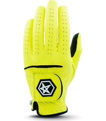 new asher's men's golf glove! w0w free !  yellow ... champ fly tee white