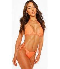 basic triangle bikini, orange