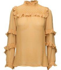 passion blouse lange mouwen geel munthe