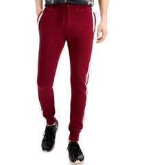 splendid men's active relaxed-tapered fit side stripe track pants