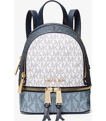mk zaino rhea mini color block con logo - navy cangiante (blu) - michael kors