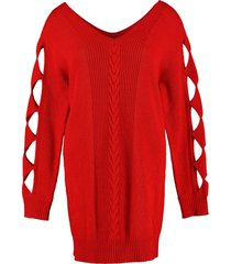 boutique moschino cut-out details sweater dress