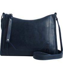 frye melissa leather crossbody bag - blue
