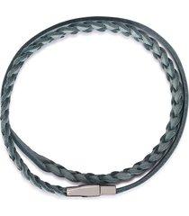 dolce & gabbana braided wraparound bracelet - blue