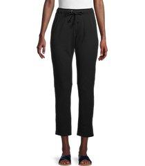grey state women's walter cotton-blend pants - black - size xs