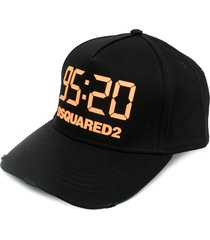 dsquared2 95:20 cotton baseball cap - black