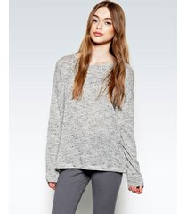 rangle draped sweater - l heather grey