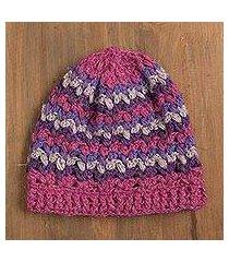 100% alpaca hat, 'striped dream' (peru)