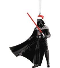 hallmark star wars darth vader in santa hat christmas ornament