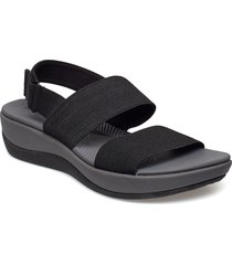 arla jacory shoes summer shoes flat sandals svart clarks