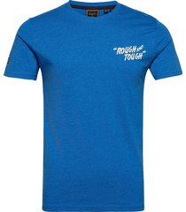 ss workwear graphic tee 185 t-shirts short-sleeved blå superdry