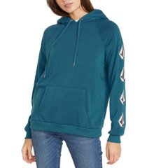 volcom juniors' graphic-print fleece hoodie
