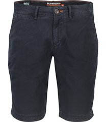 superdry shorts slim fit donkerblauw