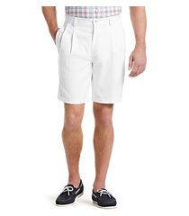 traveler collection traditional fit pleated front twill shorts clearance by jos. a. bank