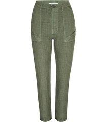 frame women's le beau linen pants - military - size xxs