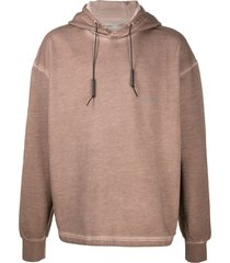 a-cold-wall* plain long sleeved hoodie - brown