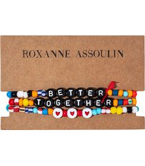 roxanne assoulin better together camp bracelets - red