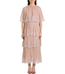 self-portrait chiffon dress with matching cape