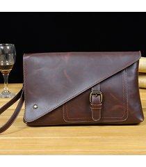 3964cb9d1d retro business clutch borsa pu casual grande capacità portafoglio phone borsa  borsa per gli uomini