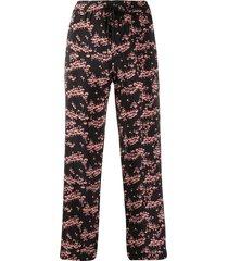 markus lupfer orla blossom trousers - black