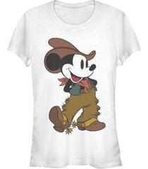 fifth sun women's disney mickey classic cowboy mickey short sleeve t-shirt