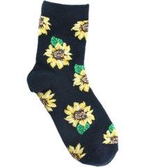 women's flower power crew socks