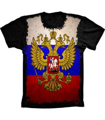 camiseta baby look lu geek flag russia preto - preto - feminino - dafiti