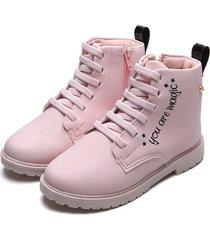 bota coturno klin infantil rock rosa - rosa - menina - dafiti